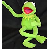 """The Muppets Kermit The Frog 12"""" Plush Poseable Frog ~ Disney"""