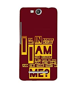 printtech Breaking Quote Bad Back Case Cover for MICROMAX CANVAS JUICE3