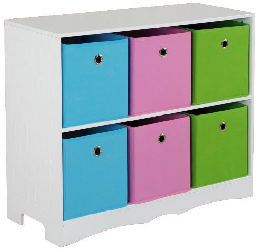 kids six bin storage shelf provides decorative storage space for books