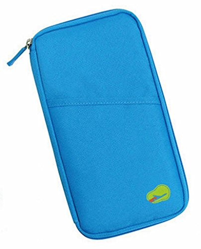 Lowest Price! PASSPORT CREDIT ID CARD HOLDER CASH ORGANIZER POUCH TRAVEL BAG WALLET BLUE