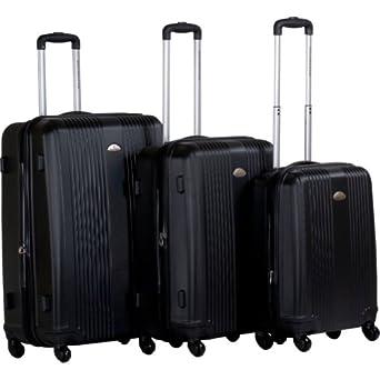 CalPak Torrino 3-Pc Hardside Luggage Set (Black)