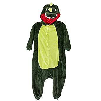 Amour - Kigurumi Sleepsuit Pajamas Costume Cosplay Unicorn Homewear Lounge Wear Ightwear (S, Dinosaur)