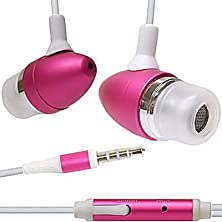 buy New Pink 3.5Mm Aluminum Bullet Design Sound Isolation Earphones Hands-Free Headset With Built-In Microphone For Apple Iphone 3G 3Gs