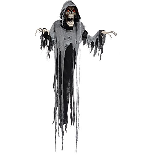 Hanging Reaper 72 Inches Animated Halloween Prop Haunted House Yard Scary Decor