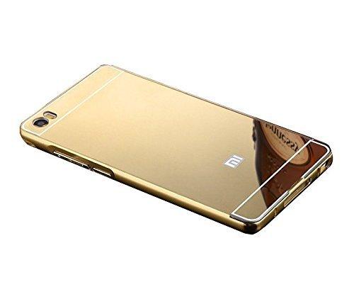 pretty nice 325d1 beccc TiSec Luxury Metal Bumper Acrylic Mirror Back Cover Case For Xiaomi MI 5 /  MI5 - GOLD
