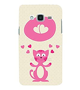 Cat Clipart design 3D Hard Polycarbonate Designer Back Case Cover for Samsung Galaxy J3 (6) J320F :: Samsung Galaxy J3 (2016)