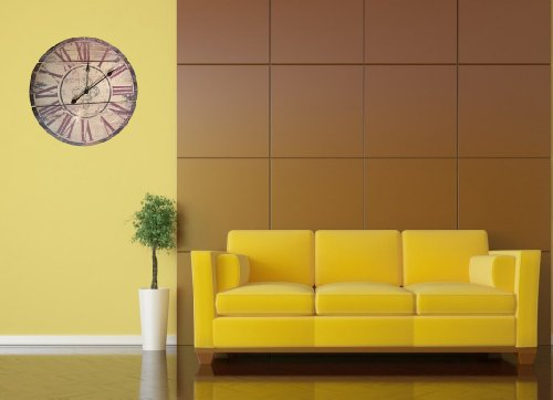 Lulu Decor Black Drop Wall Clock : Lulu decor fleur de lis wood wall clock quot rustic