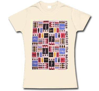 Rage Against The Machine * Mosaic * T-shirt da donna * S * LIQUIDAZIONE * ARTICOLO UNICO *