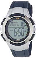 Timex Men's T5K239 1440 Sports Digital Full-Size Blue/Silver-Tone Resin Strap Watch from Timex