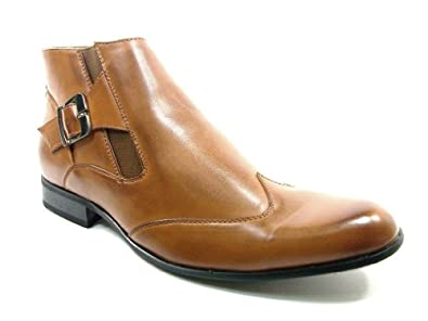 Majestic Men's 99257 Tan Wing Tip Ankle Boots