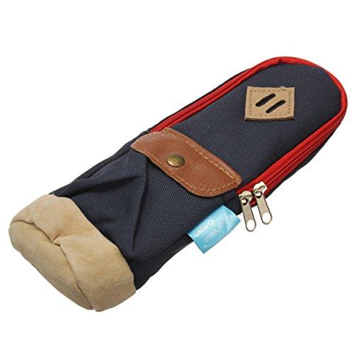 KingSo(TM) Mini Rucksack Bleistiftbeutel Bleistift Tasche Leinwand Tasche Make-up Tasche Tiefblau