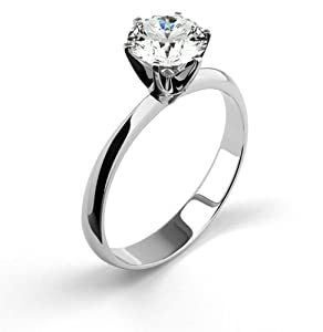 14K White Gold Diamond Ring Natural Certified 1.66 Carat Weight Round Brilliant Cut F SI2 IGL Certificate