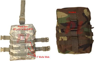 Gas Mask Model: Molle Tactical GAS MASK POUCH Pocket UTILITY Carrier Drop Leg Hip Rig Woodland by Generic :: Gas Mask Bag :: Army Gas Masks :: Best Gas Mask