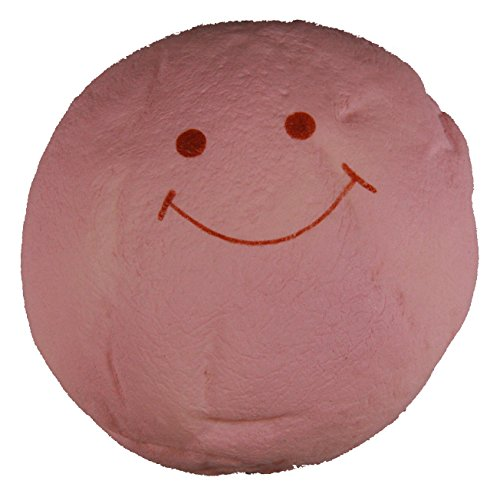 Cute Pink Jumbo Marshmallow Bun Squishy with a Smiling Face - 1