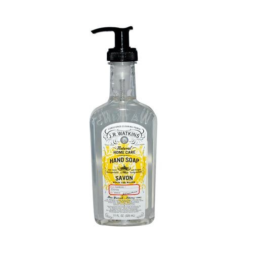 2 Packs of J.r. Watkins Liquid Hand Soap Lemon - 11 Fl Oz - Case Of 6