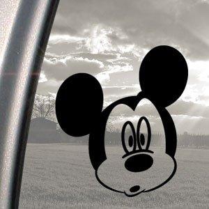 Disney Black Decal Mickey Mouse Car Truck Window Sticker