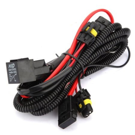 Kensun Hid Conversion Kit Universal Single Beam Relay Wiring Harness - H1 H3 H8 H9 H10 H11 9005 9006 5202 880 881 9140 9145