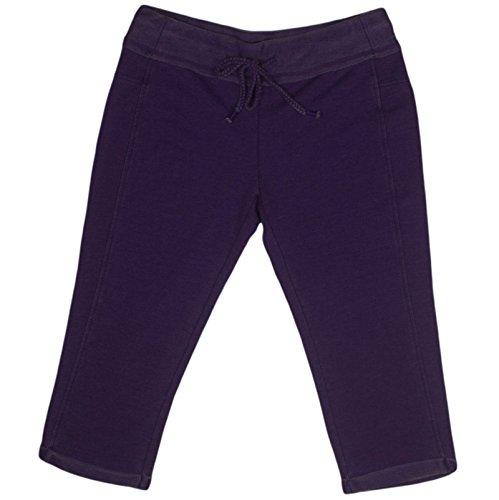 Green Tea Womens Soft Wash Knit Capri Small Purple