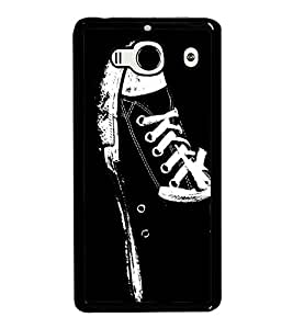 Canvass Shoe 2D Hard Polycarbonate Designer Back Case Cover for Xiaomi Redmi 2S :: Xiaomi Redmi 2 Prime :: Xiaomi Redmi 2