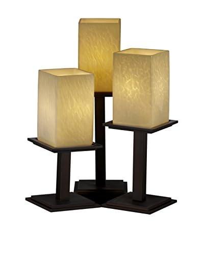 Justice Design Fusion 3-Light Montana Table Lamp, Dark Bronze