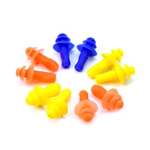 5X Paar Silikon Ohrenstöpsel Ohrstöpsel Schwimmen Earplug Stöpsel Multifarbe