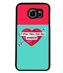 Fuson 2D Printed Love Designer back case cover for Samsung Galaxy S6 Edge - D4294
