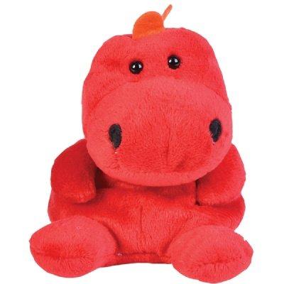 "One Tyrannosaurus Rex T-Rex Dinosaur Beanie Plush Stuffed Animal - 5"" - 1"