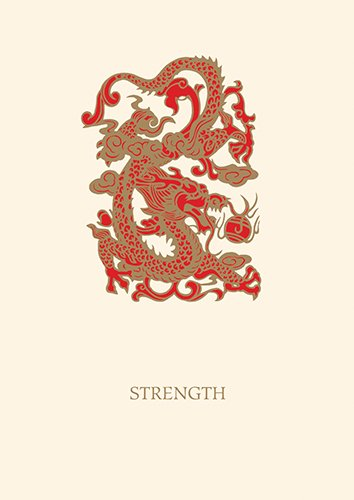 Graphique de France Strength Dragon Boxed Notes, 4.25 x 5.5 Inches, Cream (L805CB)