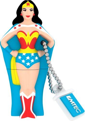 EMTEC Super Heroes 8 GB USB 2.0 Flash Drive, Wonder Woman
