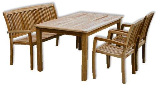 """KMH®, Gartensitzgruppe """"Victoria"""" mit 180 cm langem Tisch für 6 Personen (ECHT TEAK) (#102132) günstig kaufen"""