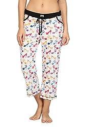 Nuteez Multicolor Cotton Stilettos Capri For Women