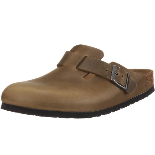 Birkenstock Boston Smooth Leather, Style-No. 960341, Unisex Clogs, Antique Dune, EU 38, normal width