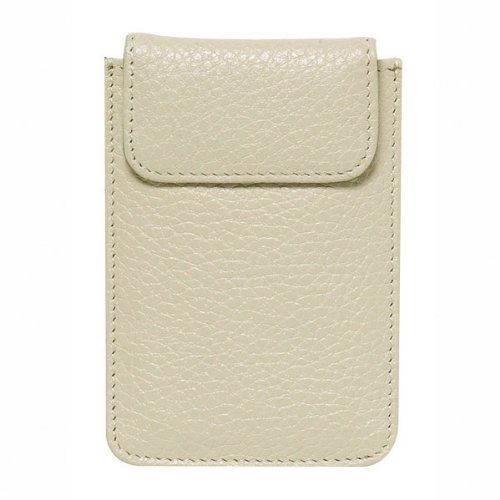 World of Journals Nappa Leather Card Case, 2.875 x 4.5-Inches, Bisque (35853)