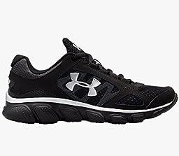 Under Armour Kids Boy\'s UA BPS Assert V (Little Kid) Black/Black/Metallic Silver Sneaker 12 Little Kid M