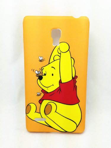 Cute Lovely Bear Winnie The Pooh Stitch Alien Soft Tpu Case Cover For Smart Mobile Phones (Motorola Verizon Droid Maxx / Ultra Xt1080, Winne The Pooh) front-165876