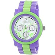 Sprout Women's ST5015MPLV Diamond Accented  Corn Resin Purple and Green Watch