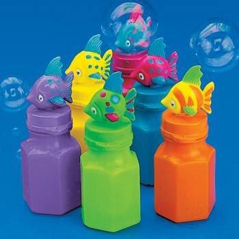 Plastic Tropical Fish Bubble Bottle (1 ct)