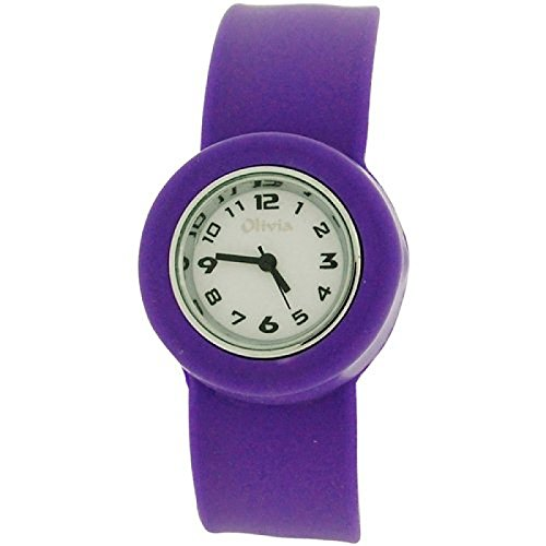 Olivia Kids Slap On Purple Quartz White Dial Watch SWK-010