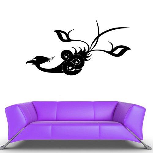 Wall Vinyl Sticker Decals Decor Art Bedroom Design Mural Design Peacock Cartoon Cute Bird (Z404) front-1063889