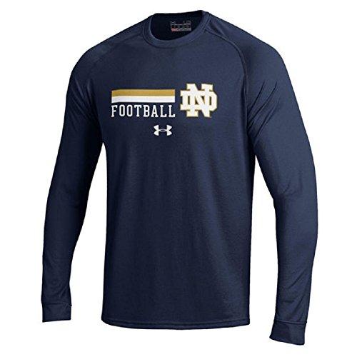 Under Armour NCAA Men's-Notre Dame Fighting Irish Football-Long Sleeve Tech Tee-Navy-XXL