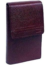 Stylish Geniuine Leather Bi-fold Wallet Card Holder Small Messenger Office Cash Bag Wallet With Shoulder Strap...