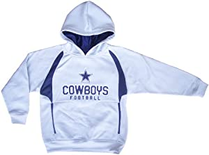 Dallas Cowboys Pullover Hoodie Fleece Sweatshirt Youth Small by Dallas Cowboys Authentic Apparel