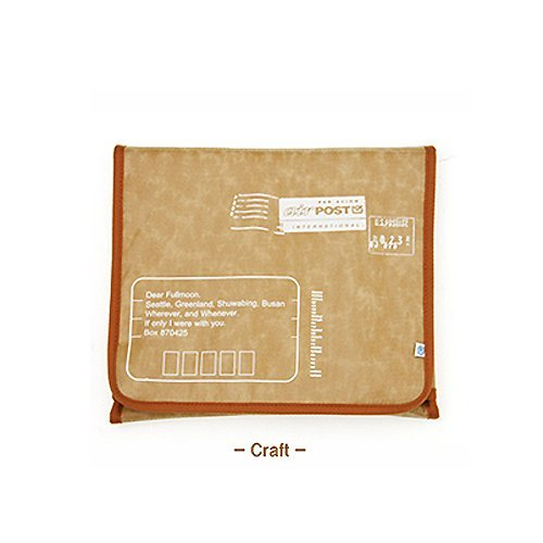 Checkpoint Friendly Vintage Postage Sleeve (Chocolate) to Protect the ASUS Eee PC 1201HAB 12.1-inch Netbook
