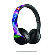 MightySkins Protective Vinyl Skin Decal Cover for Dr. Dre Beats Solo2 Headphones Sticker Skins Light Waves