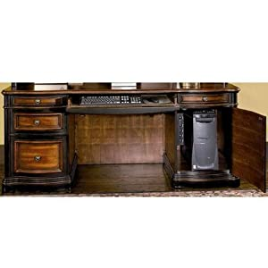 "Amazon.com: Wildon Home 800500 / 800501 Corona 73"" Desk with Hutch in"