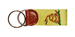 Smathers & Branson Hand-stitched Needlepoint Key Fob - Gadsden Flag (F-205)