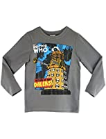 Character Boys Dr Who Long Sleeve T-shirt Ages 5 to 12 Years