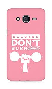 Amez Excuses don't burn Calories Back Cover For Samsung Galaxy J5