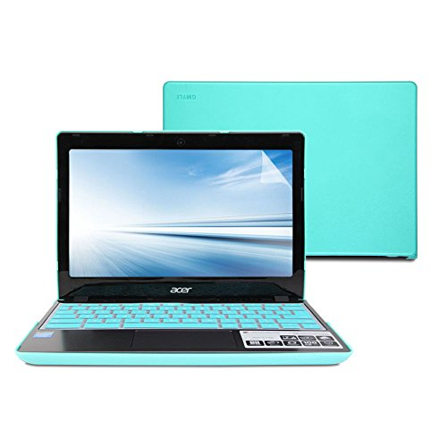 Lowest Price! GMYLE Turquoise blue 3 in 1 Rubberized Hard Case Cover for Acer Chromebook C720 C720P ...