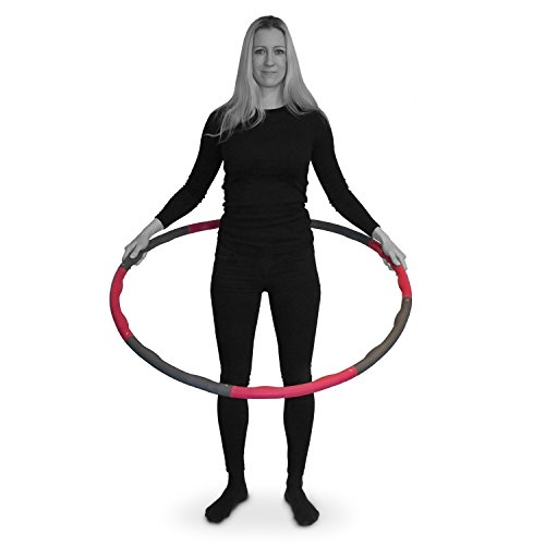 "The Friendly Swede 2.65 lbs Weighted Core Toning Fitness Exercise Hula Hoop, 40"" diameter"